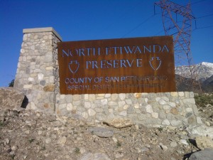 North Etiwanda Preserve Sign