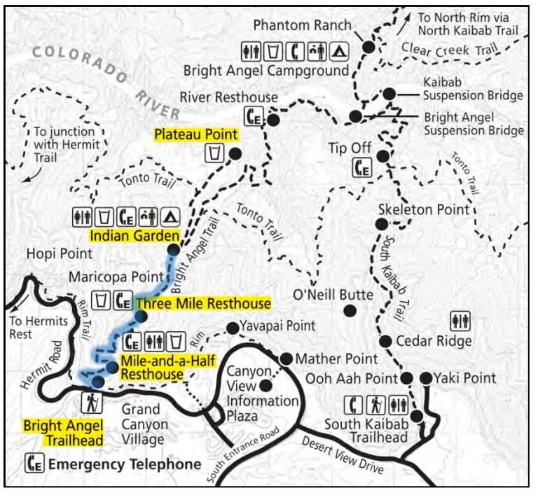 Grand Canyon South Rim La Trail Hikers