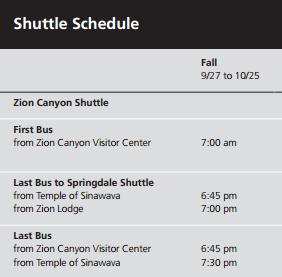 shuttleschedule